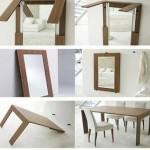 La table-miroir : une grande idée pour petits espaces