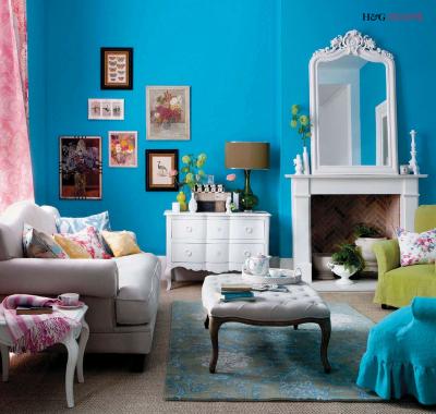 Bleu l 39 atelier azimut - Salon bleu turquoise et marron ...