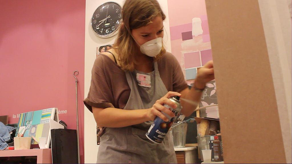 Peindre du m lamin l 39 atelier azimut for Peindre meuble stratifie