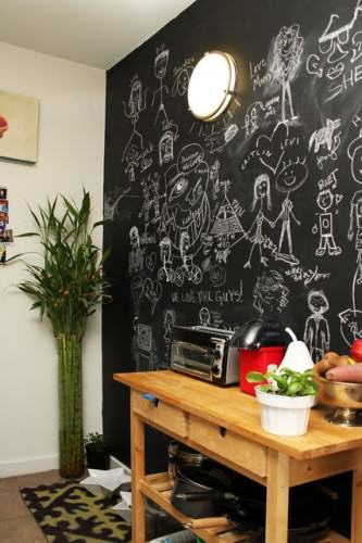 Mur ardoise l 39 atelier azimut - Mur tableau noir ...