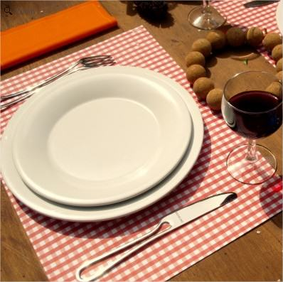 Bloc de Sets de Table Vichy Rouge - Lili&#039;s - trendform
