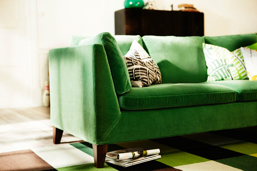 IKEA-stockholm-2013-canape-velours-retro-vert