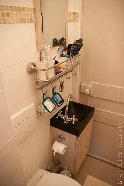 Une mini salle de bains avant apr s l 39 atelier azimut - Micro salle de bain ...