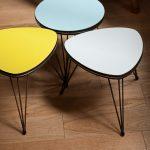Trois mini-tables tripodes rajeunies