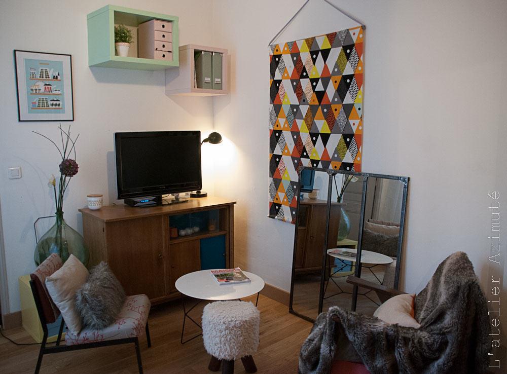L'atelier Azimuté - Salon - buffet vintage meuble TV