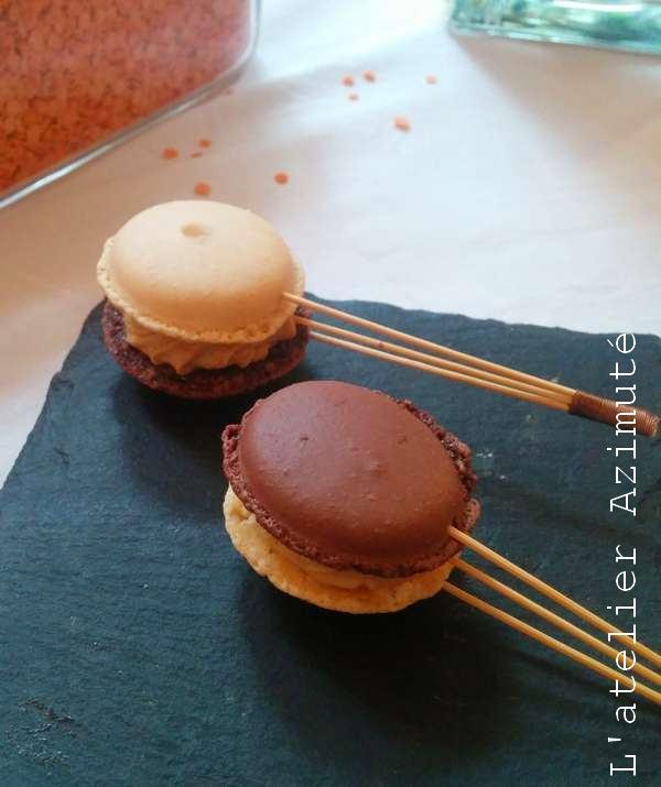 Sucette salée macaron figue et Foie gras Ma'Lice
