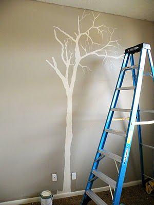 ici on peut travailler en blanc sur un mur peint mais on peut aussi. Black Bedroom Furniture Sets. Home Design Ideas