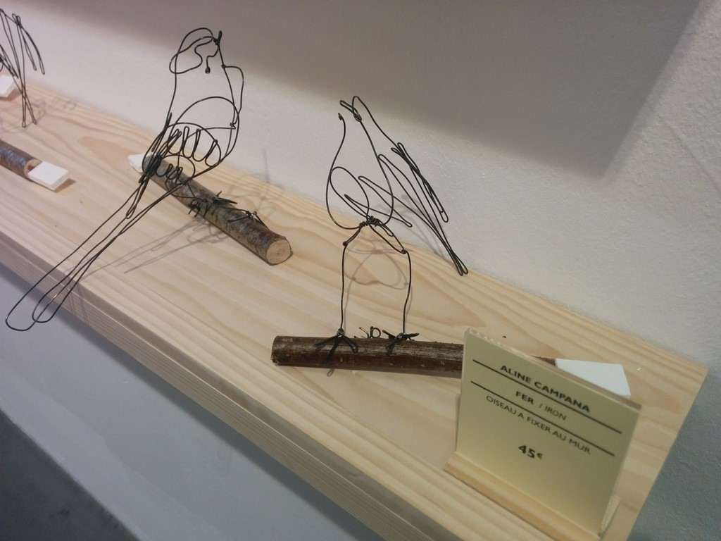 sculpture oiseaux en fil de fer