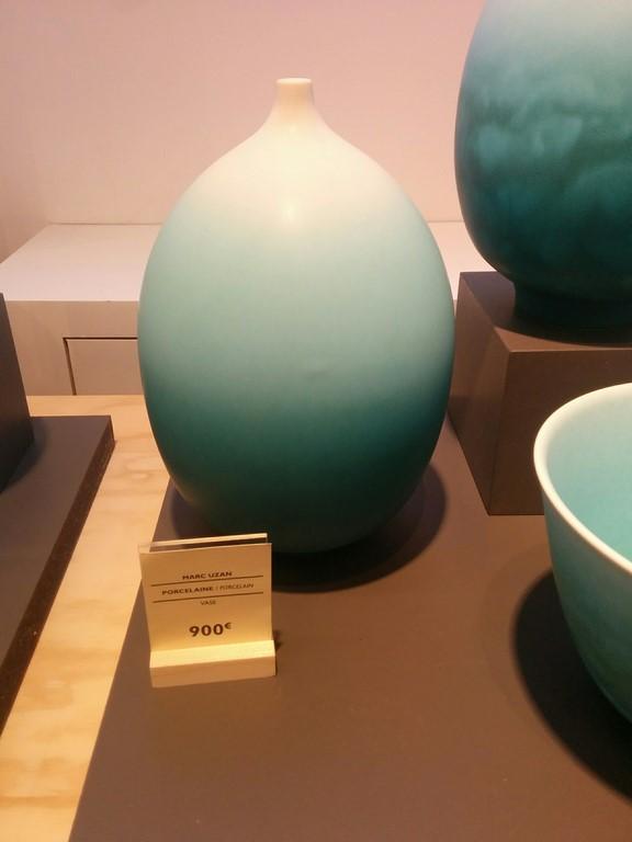 vase porcelaine dégradé tie and dye