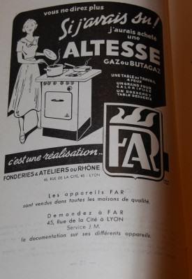 Pub rétro Cuisinière Altesse FAR