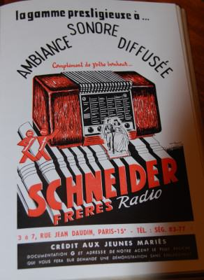 Pub rétro radio Schneider Frères