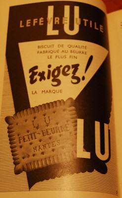 Pub rétro biscuits LU