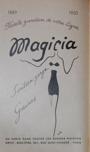 pub rétro lingerie Magicia