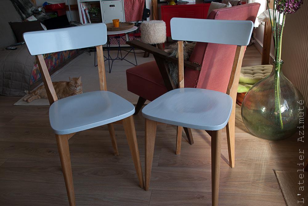 Repeindre Une Chaise Gallery Of En Pj Une Chaise Dcape Ct Duune