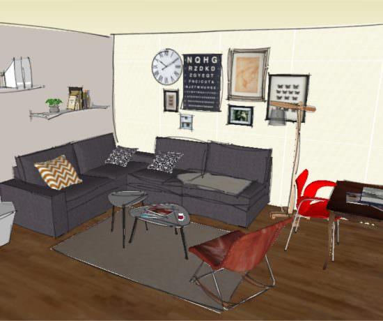 Style scan l 39 atelier azimut for Croquis salon