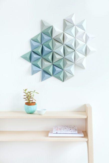 motifs-triangles-relief-bleu-vert