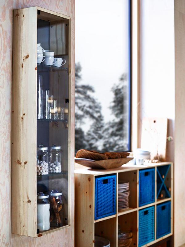 Ikea collection nornäs bibliothèque modulable et vitrine murale