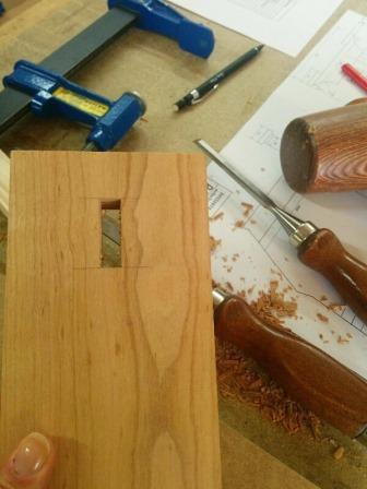 Mortaise et ciseau à bois