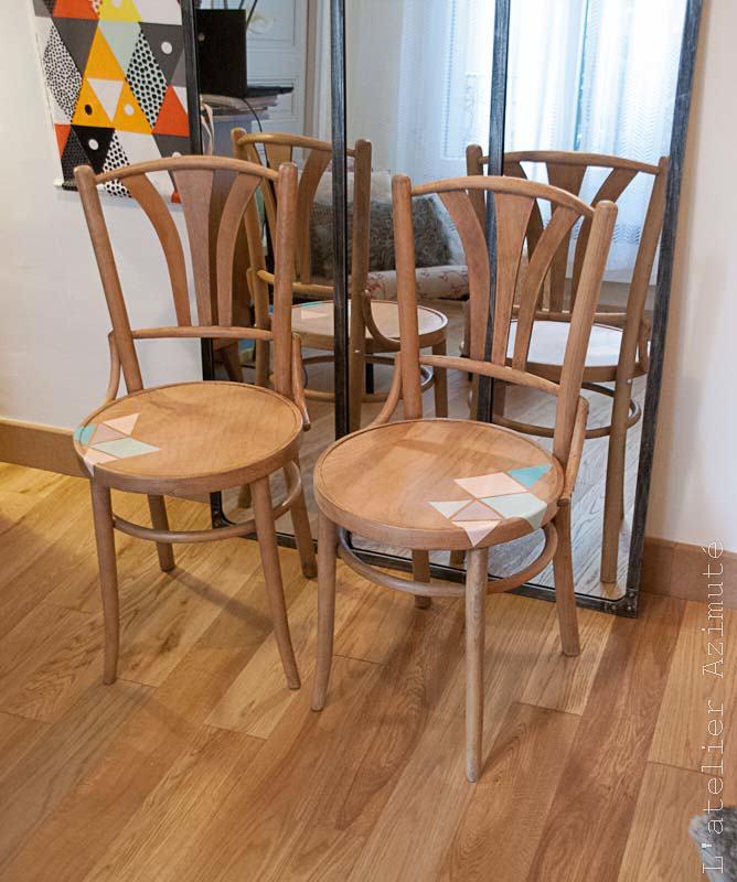 Paire de chaises bistrot restaurées
