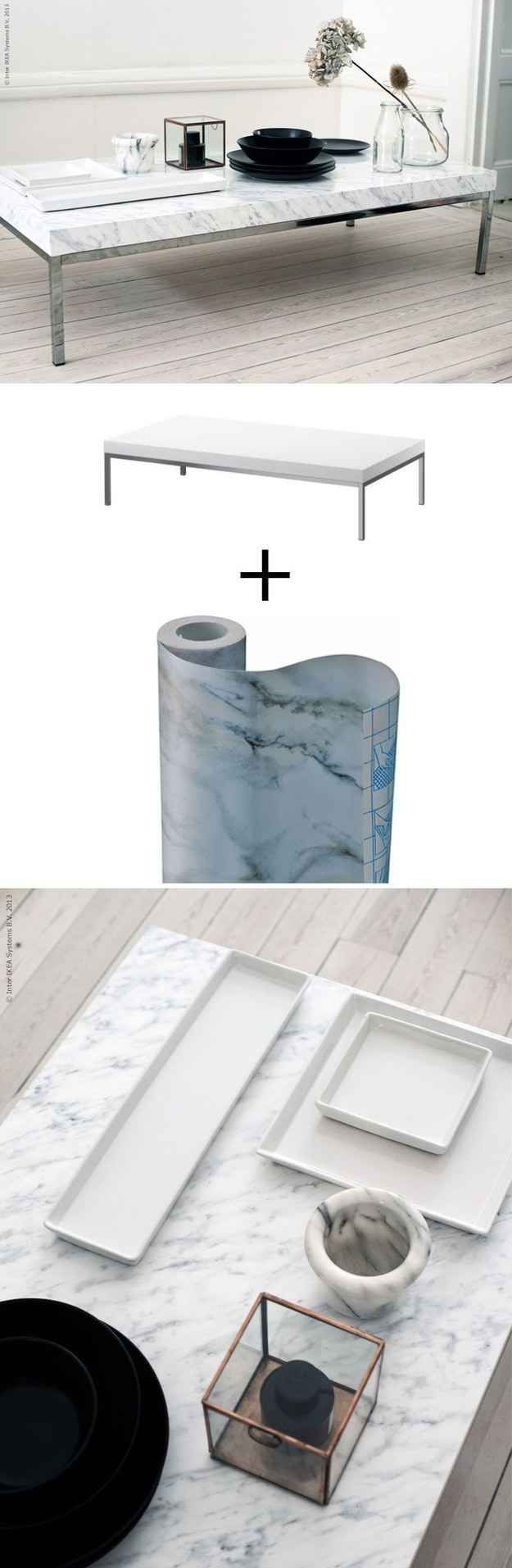 table-marbre-diy