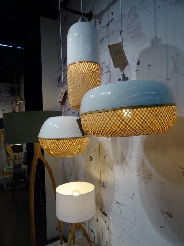 Good & Mojo lampes bambou laqué