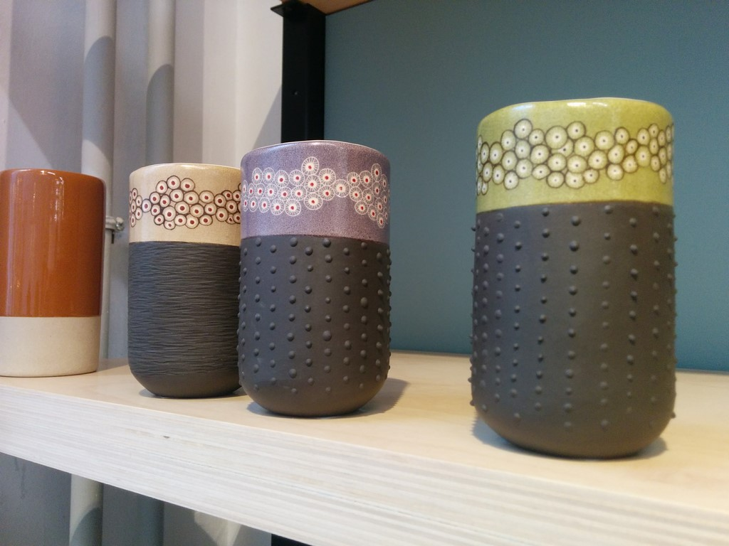 gobelets en céramique de créateurs