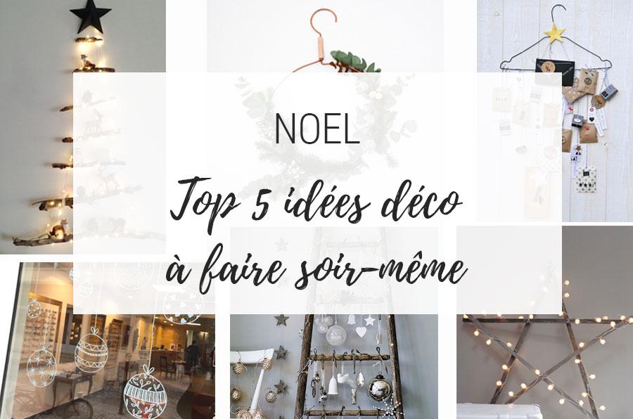 top 5 idées déco de noel DIY
