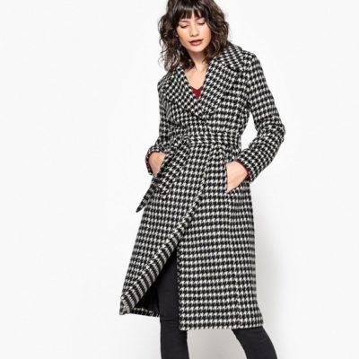 Manteau pied de poule La Redoute - 90€