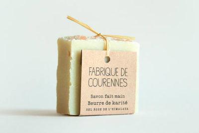 Savon au karité et sel rose de l'hymalaya - Fabrique de Courennes