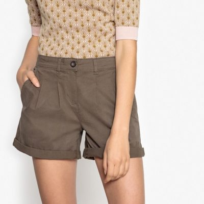 Short chino à pinces La Redoute - 24,99€
