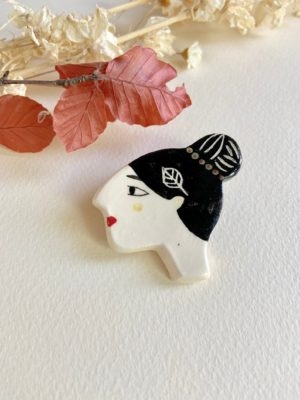 Broche femme céramique - Solenn Larnicol