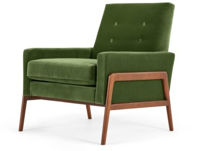 Fauteuil velours vert Made.Com